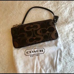 Coach canvas wristlet